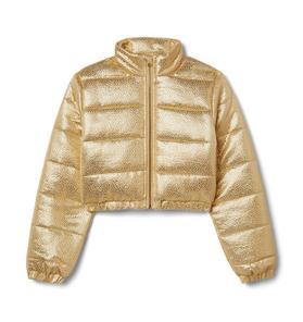 Kimberly Goldson Metallic Puffer Jacket