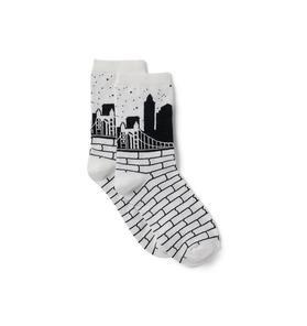 Kimberly Goldson New York Skyline Sock