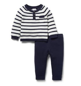 Baby 2-Piece Striped Gift Box