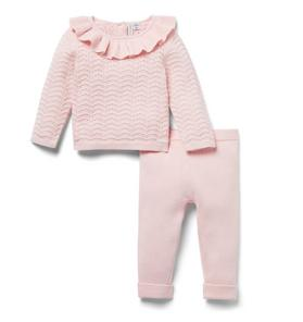 Baby 2-Piece Pointelle Sweater Gift Box