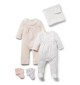 Baby 4-Piece Ditsy Floral Gift Box