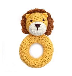 Cheengoo Lion Ring Crocheted Rattle