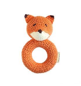 Cheengoo Fox Ring Crocheted Rattle