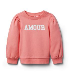 Amour Puff Sleeve Sweatshirt