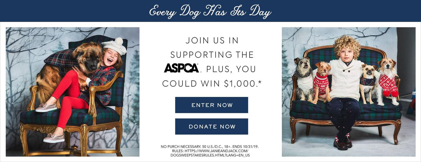 Every Dog Has Its Day. Join us in supporting the ASPCA.