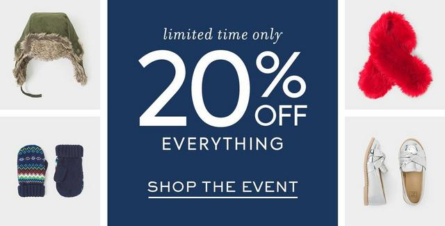 20% Off Everything In Shops & Online