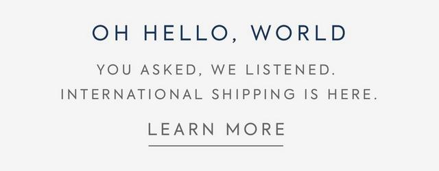 International Shipping - Learn More