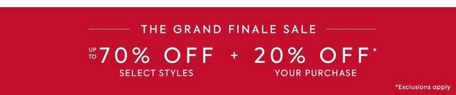 The Grand Finale Sale - 20% off your purchase