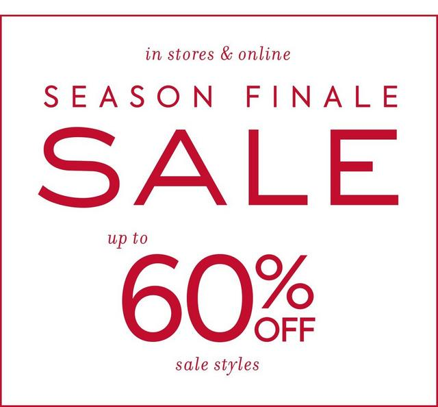 Season Finale Sale Up to 60% Off Sale Styles