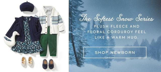 Shop The Softest Snow Series for Newborn. Plush fleece and floral corduroy feel like a warm hug.