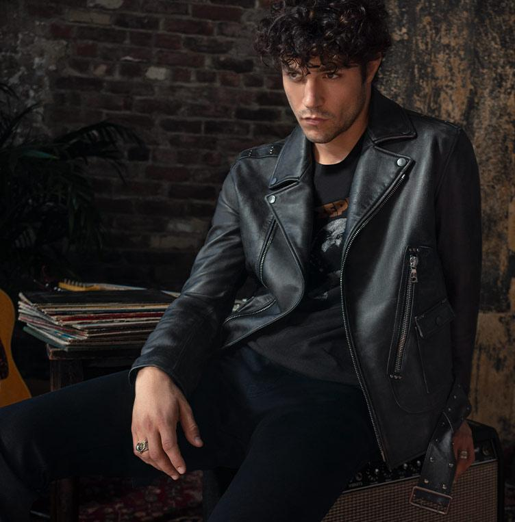 Led Zeppelin Leather Biker Jacket