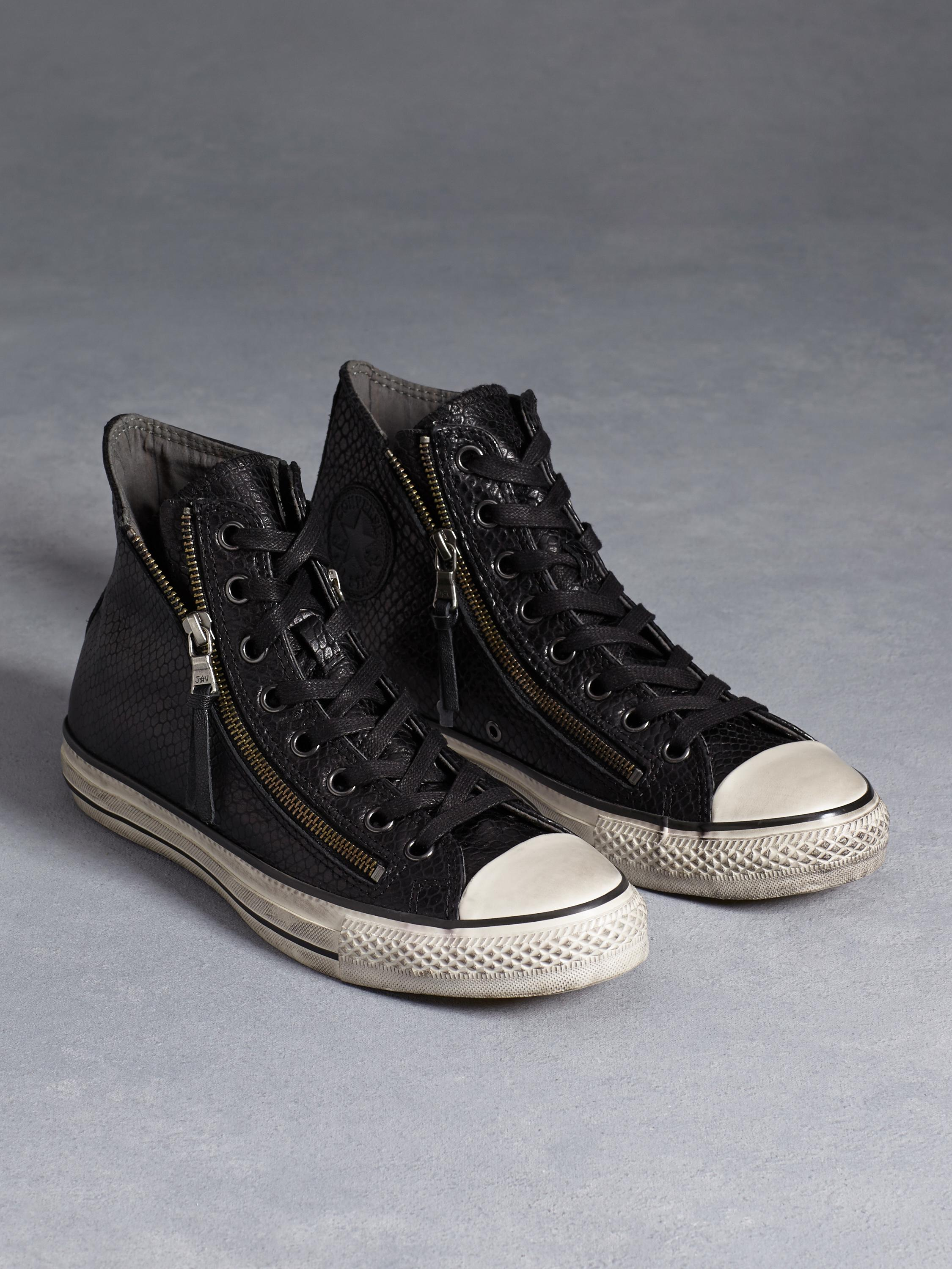 cde0ceec2d71 BLACK SNAKE ALL STAR LEATHER DOUBLE ZIP - John Varvatos