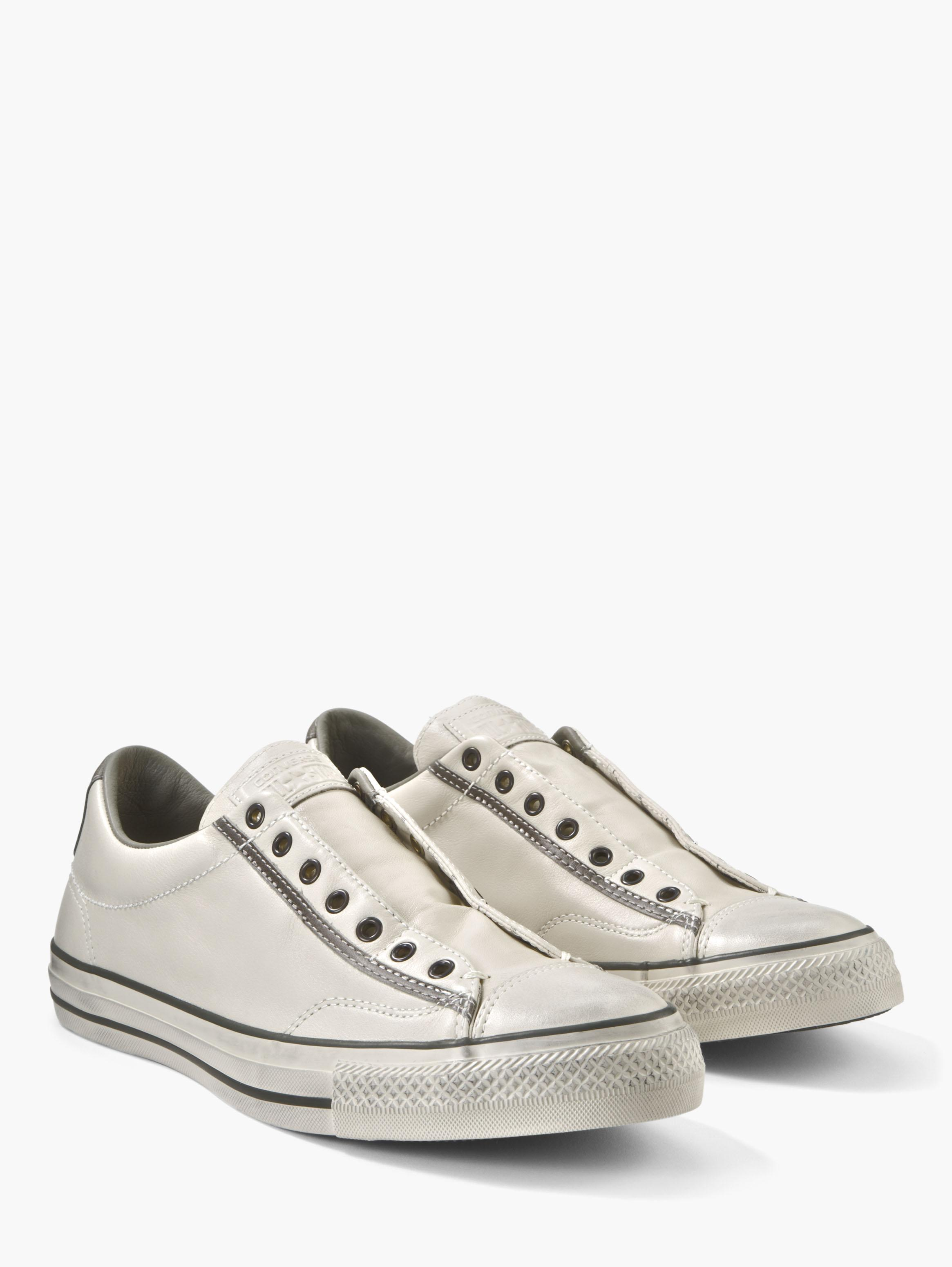 converse shoes white. turtle dove leather lacessless slip on converse shoes white