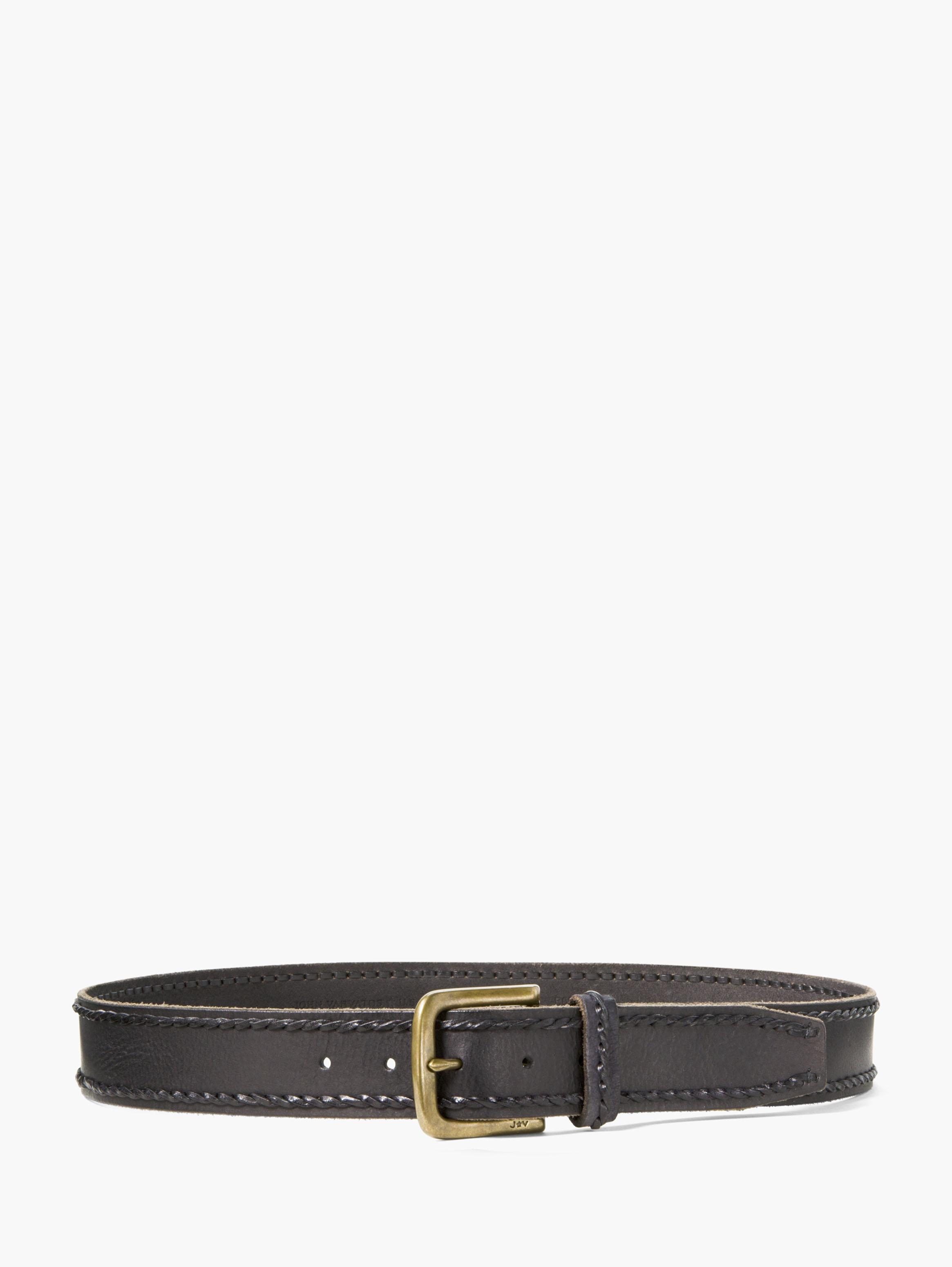 Leather Laced Edge Belt