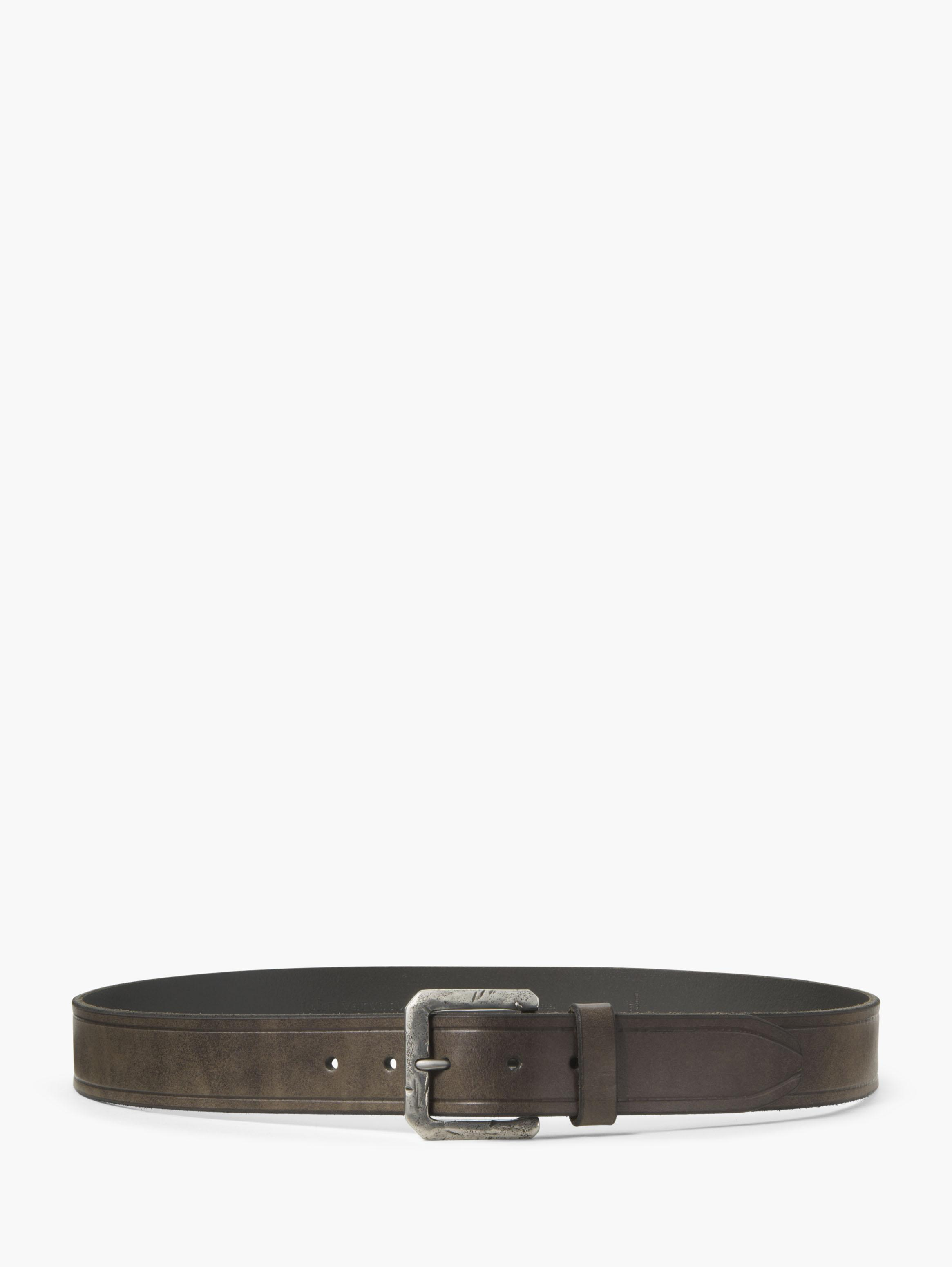 Leather Flat Strap Belt