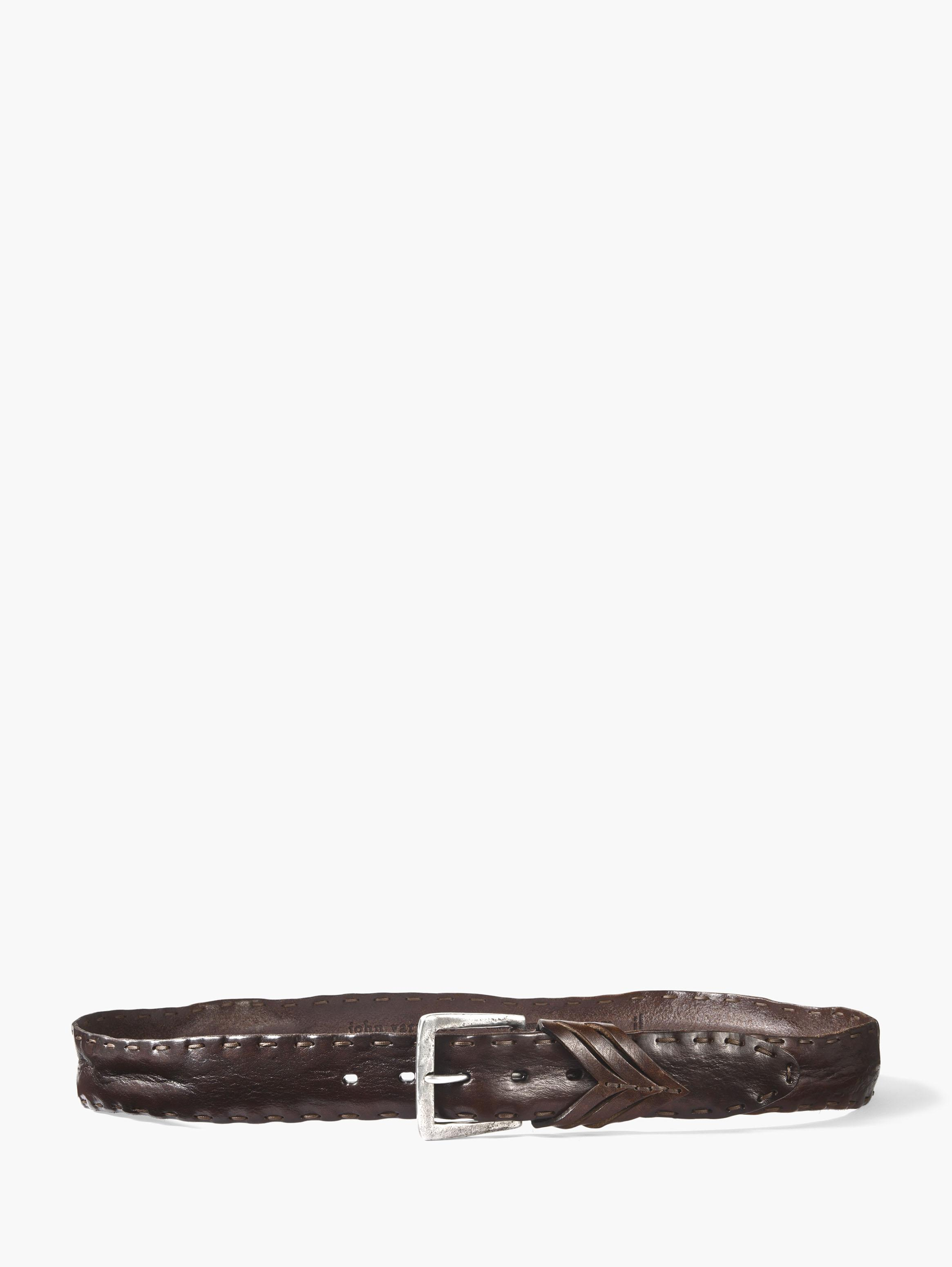 Heavy Stitched Leather Belt