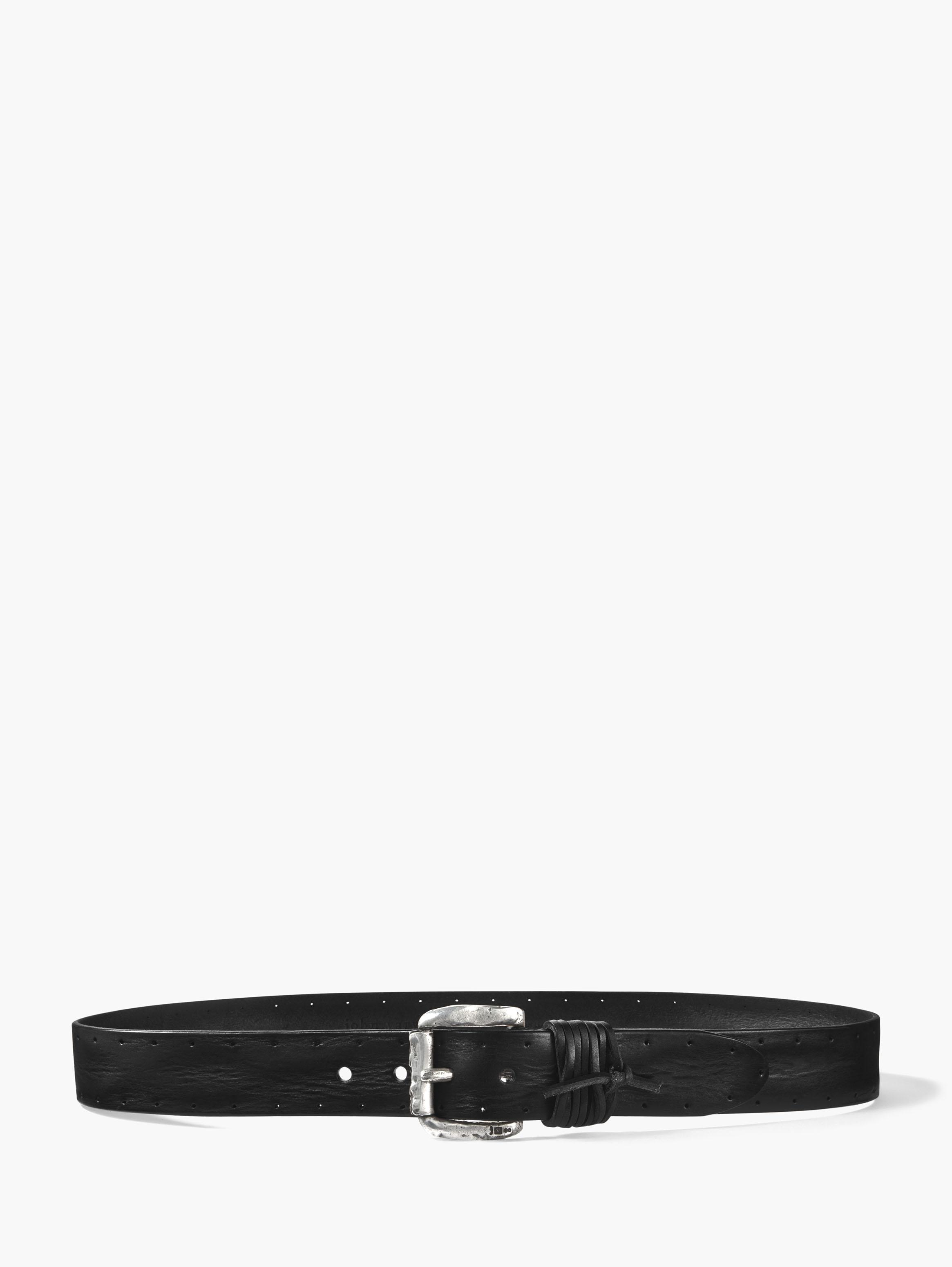 Wrapped & Perforated Leather Belt