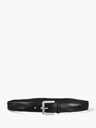 Stitch Detailed Leather Belt