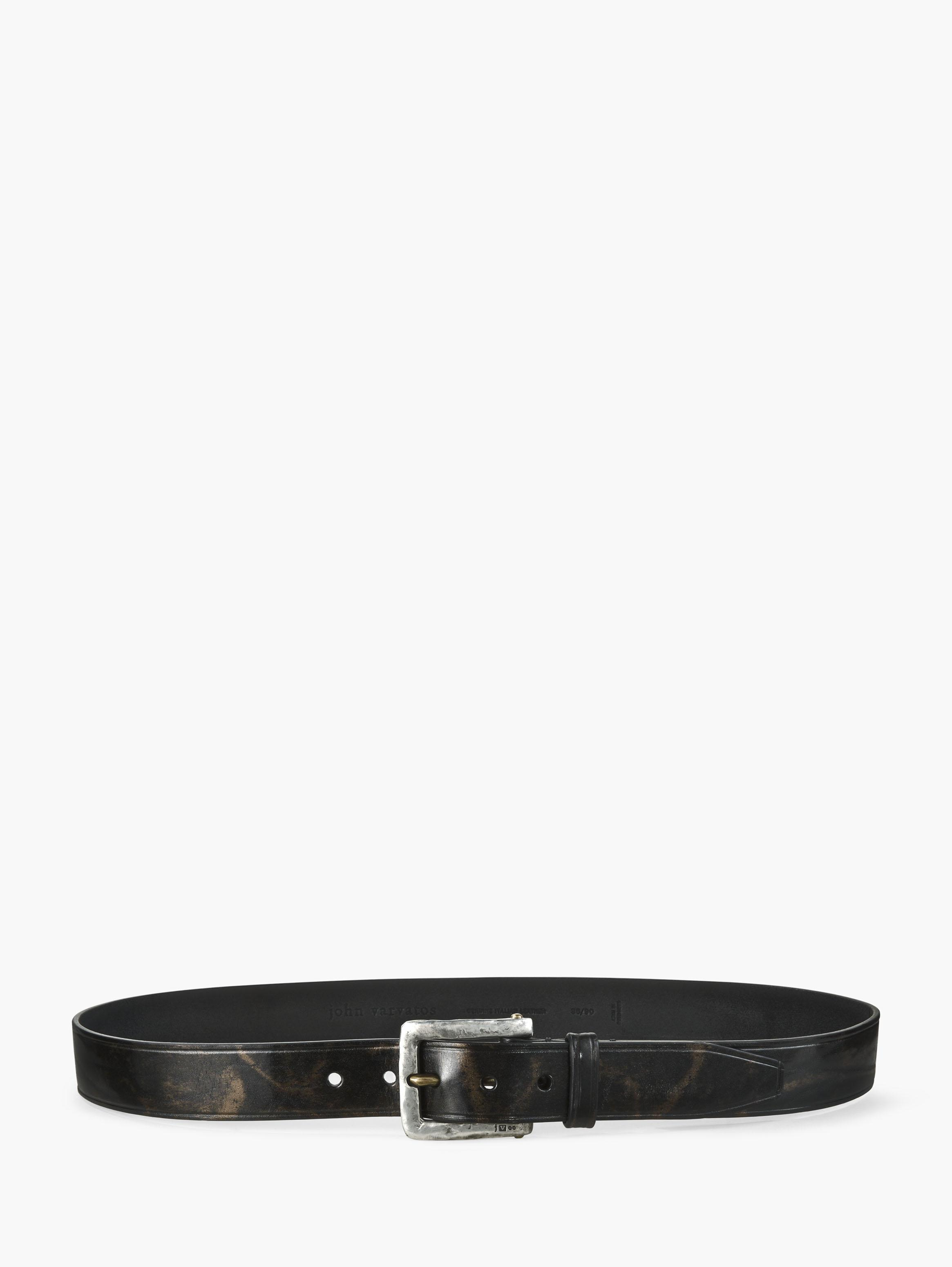 Two-Tone Leather Belt