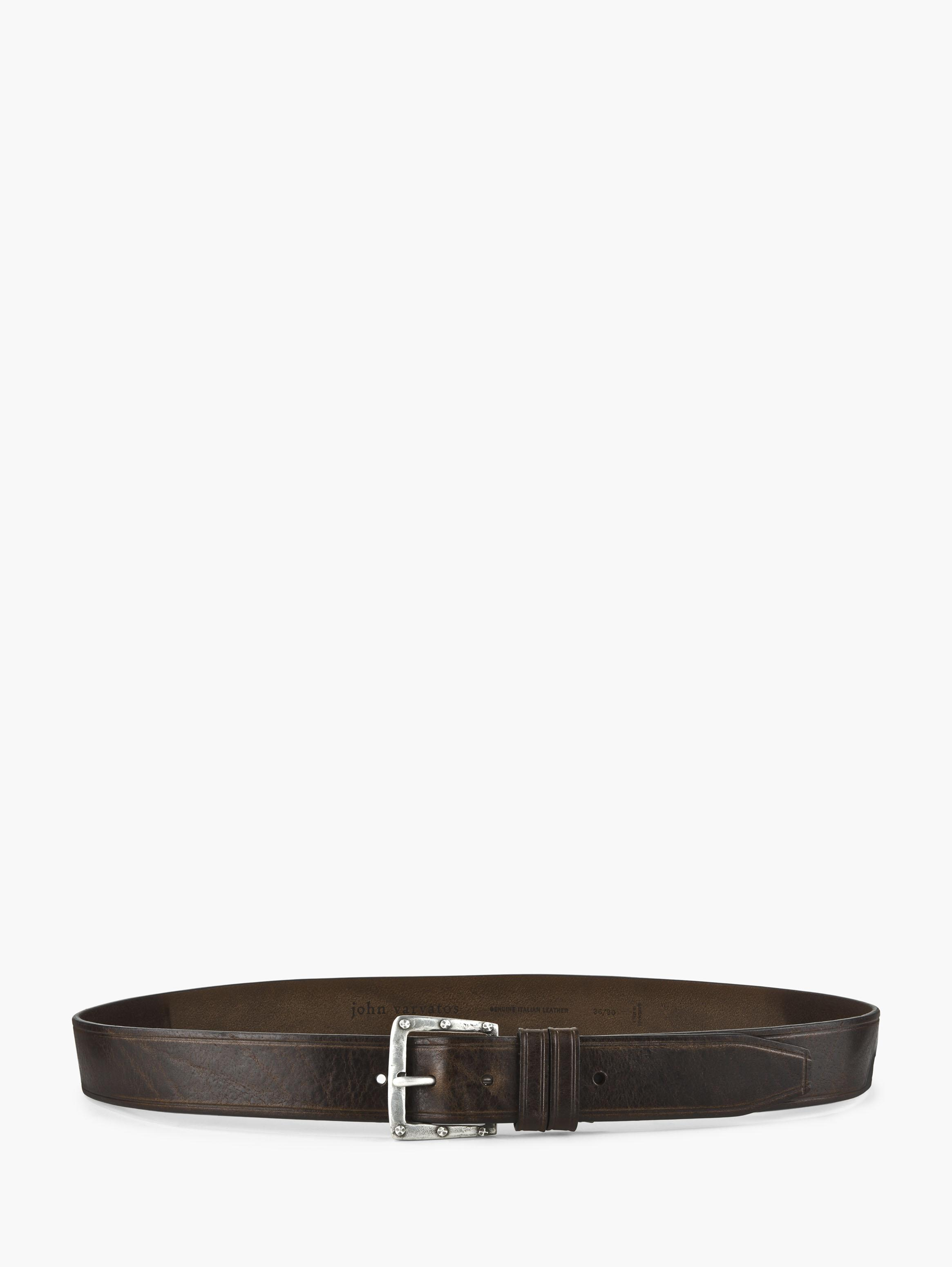 Rivet Buckle Leather Belt