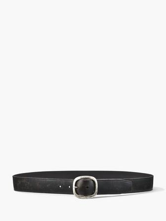 DISTRESSED CALF BELT
