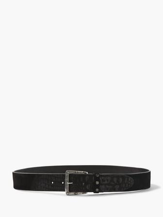 CROC STAMPED SUEDE BELT