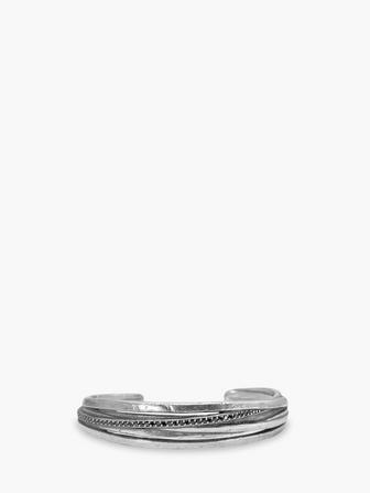 Silver & Diamond Cuff