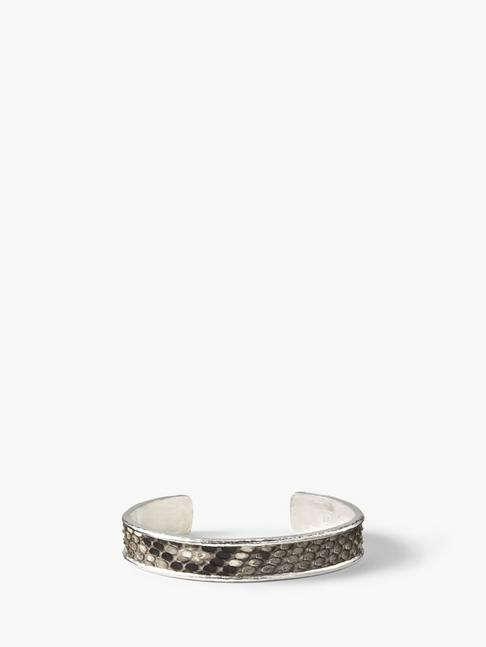 EXOTIC SNAKE SKIN & SILVER CUFF