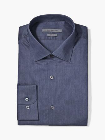 SLIM FIT MELANGE DRESS SHIRT