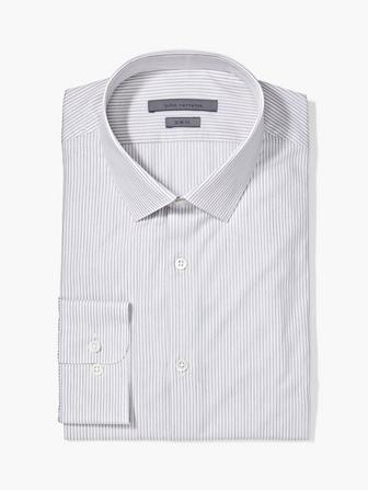 SLIM FIT DOBBY STRIPE DRESS SHIRT