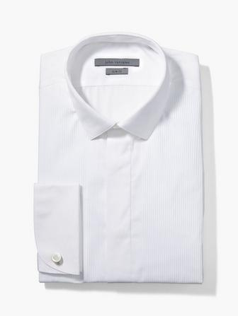 SLIM FIT DRESS SHIRT WITH STELLA COLLAR, FRENCH CU
