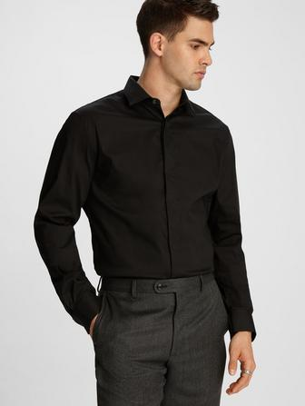 SLIM FIT HENDRIX COLLAR DRESS SHIRT