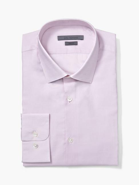 TRIM FIT DRESS SHIRT W/ HENDRIX COLLAR