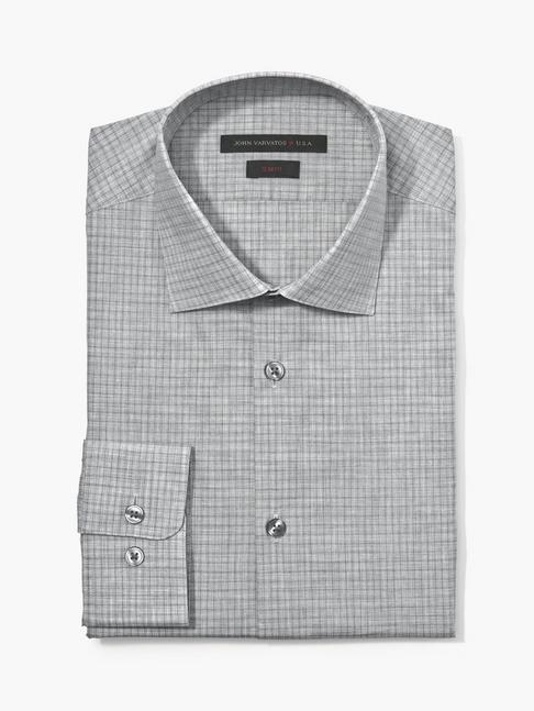 SLIM FIT MELANGE CHECK SHIRT