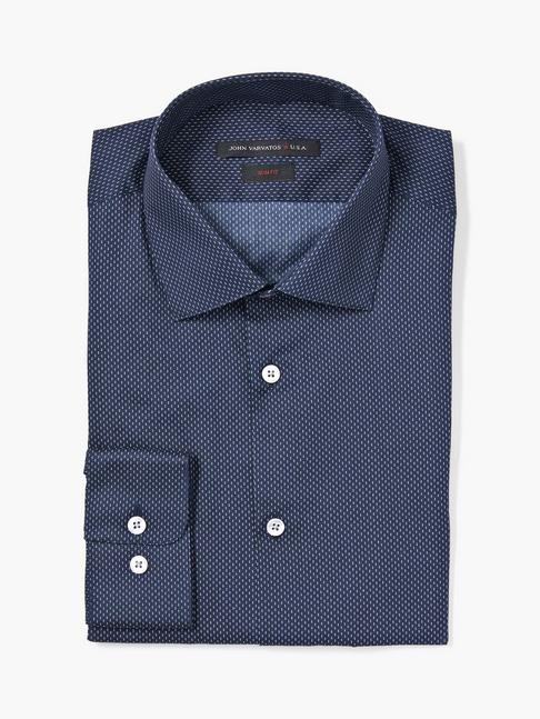 SLIM FIT MICRO DOT PRINT SHIRT