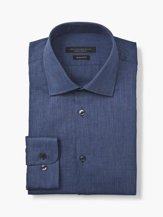 REGULAR FIT SOLID DRESS SHIRT