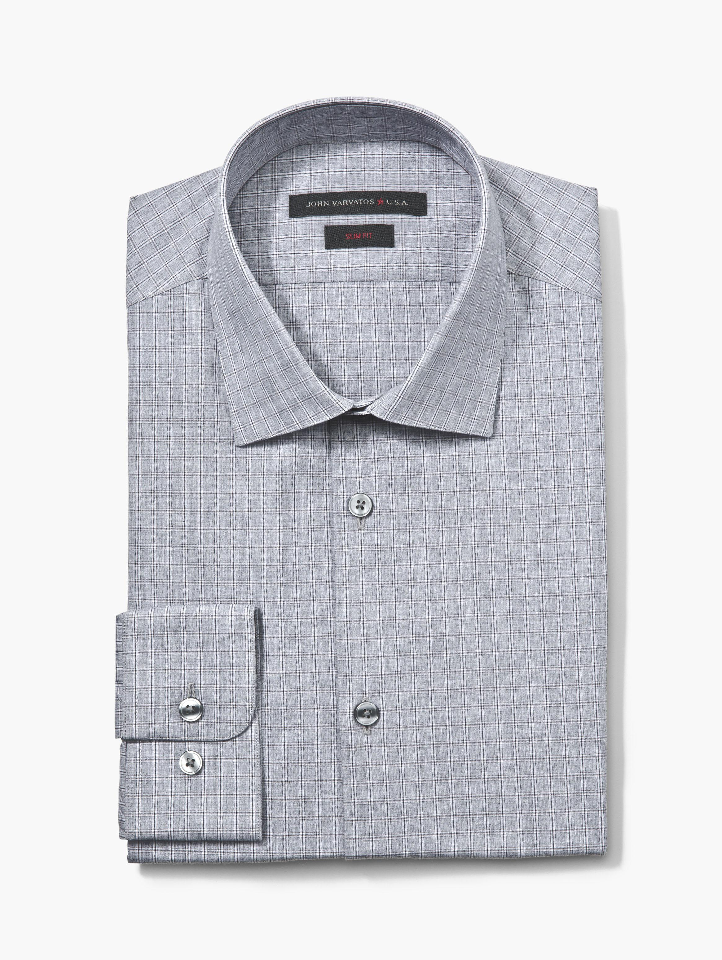 SLIM FIT DRESS SHIRT WITH UNDERPLACKET TRIM