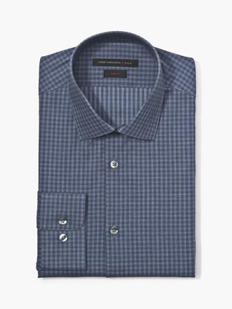 SLIM FIT TONAL CHECK SHIRT