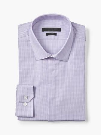 SLIM FIT BASKETWEAVE DRESS SHIRT