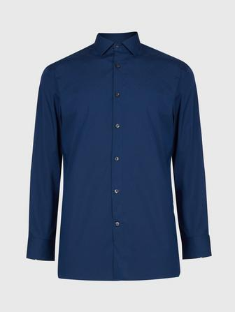 SLIM FIT DRESS SHIRT WITH HOOK CLOSURE