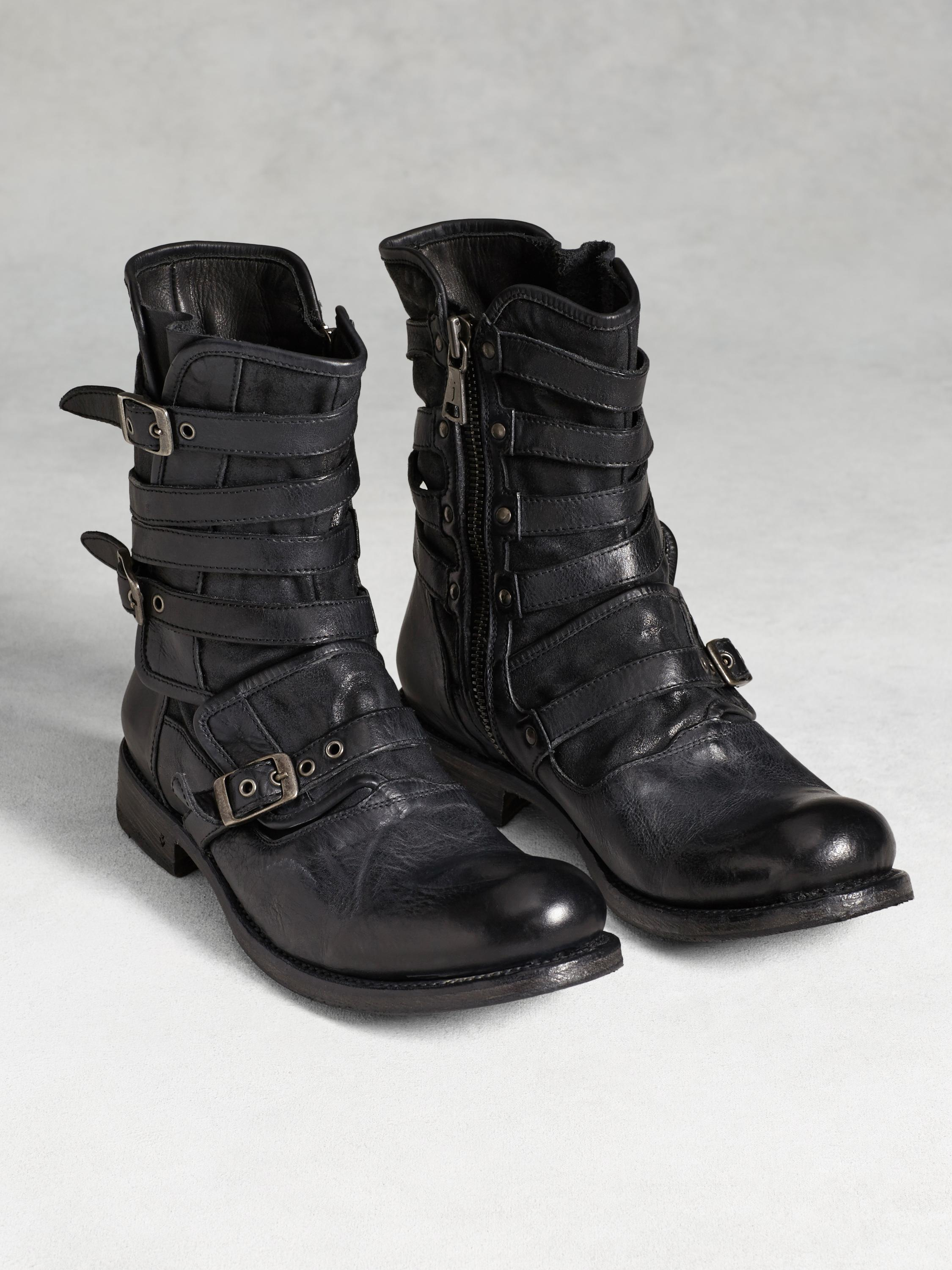 Engineer Triple Buckle Boot