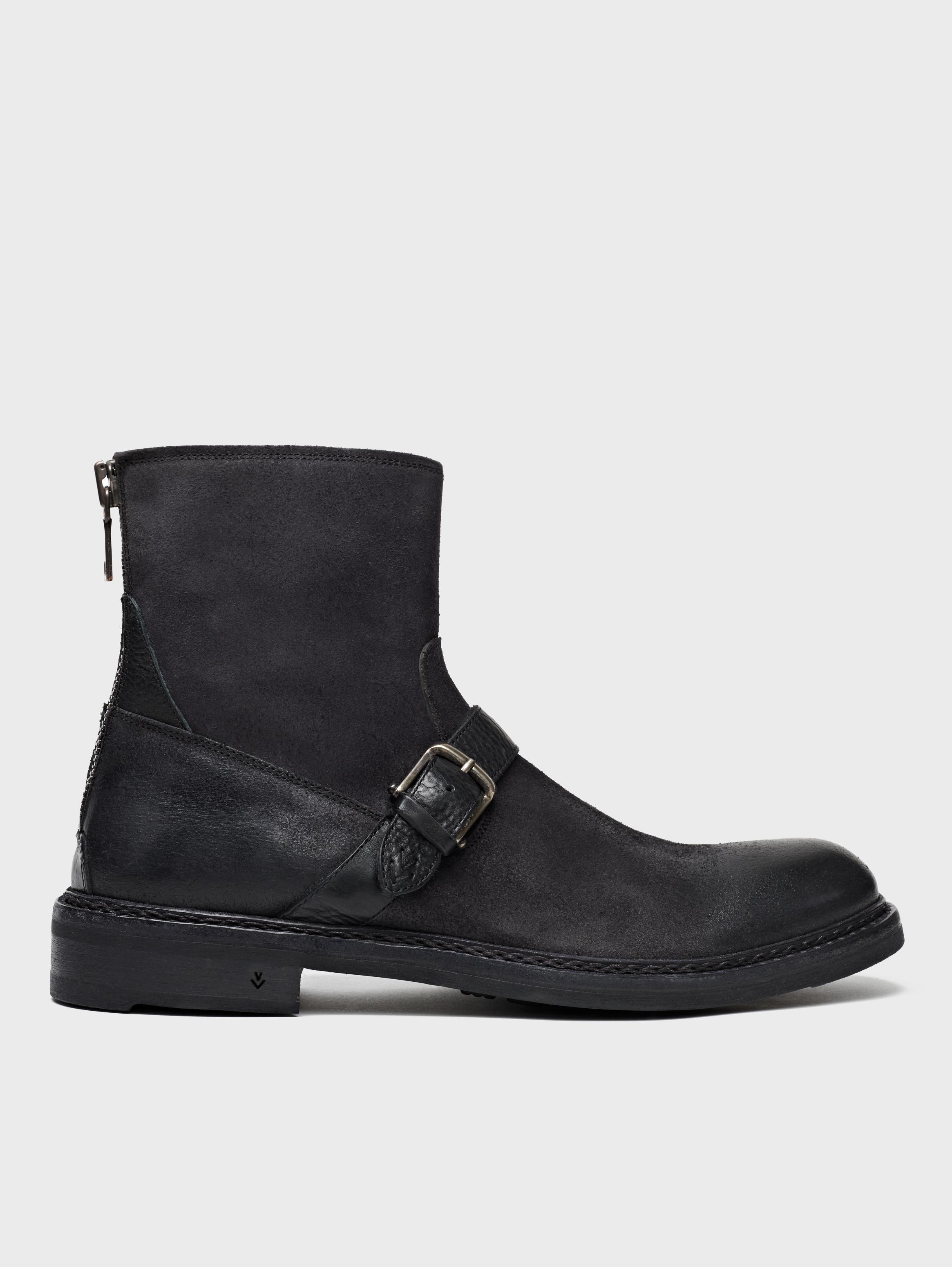 John Varvatos Ellis Moto Boot Black Size: 9 rB5GrJe7