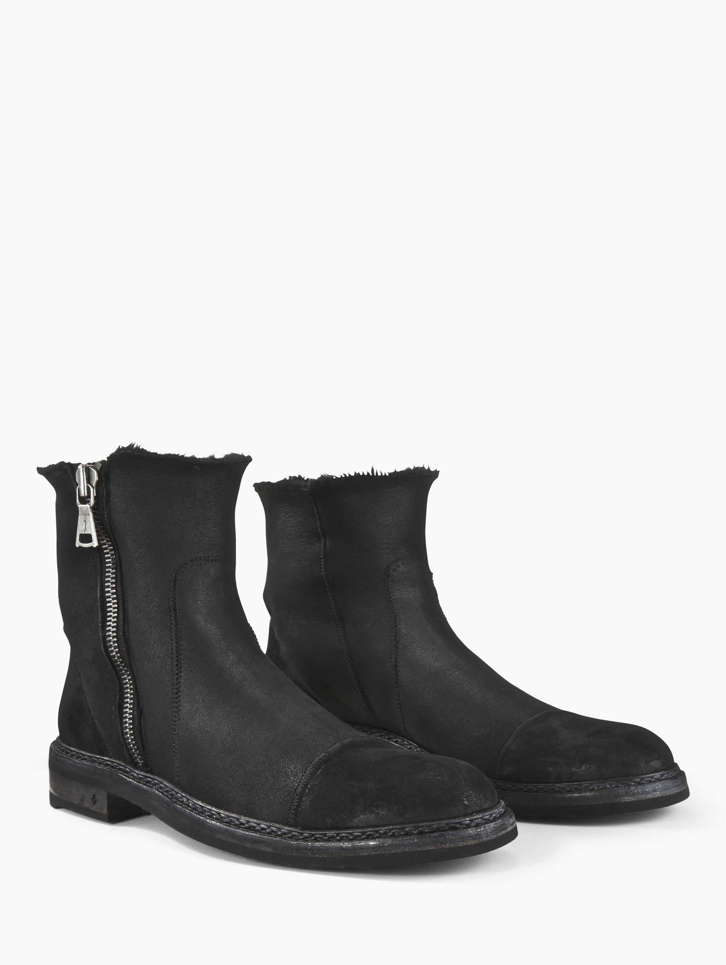 John Varvatos Ellis Shearling Boot Black Size: 12 W22VSvxN3M
