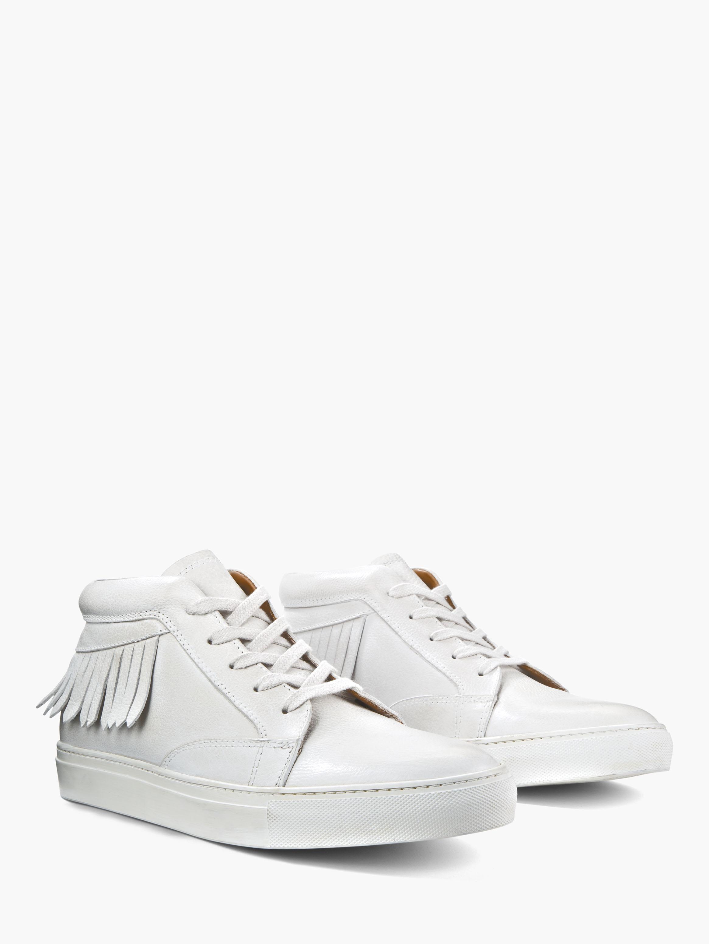 John Varvatos Reed Fringe Mid Top Sneaker Bone White Size: 9 pyKxpwtJE