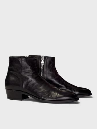 Ludlow Leather Heel Boot