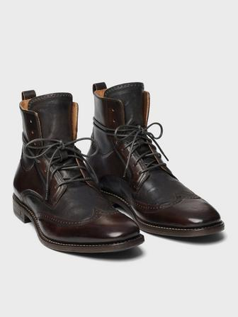 IRVING PANELED WINGTIP BOOT