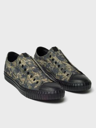 Leather Camo Low Top