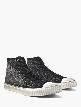 FEATHER JACQUARD MID-TOP