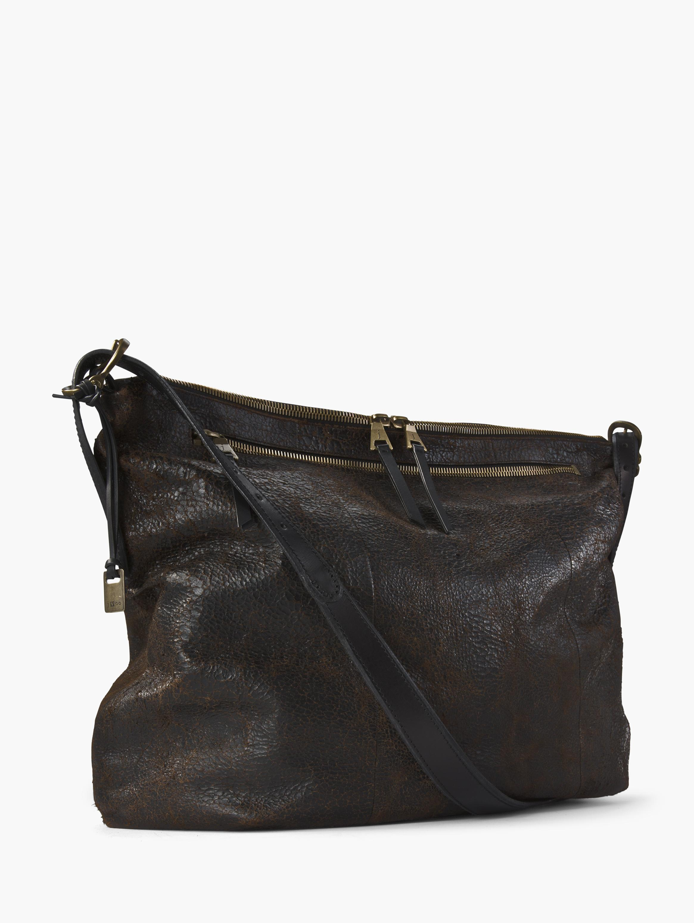 Triple Zip Crossbody Hobo