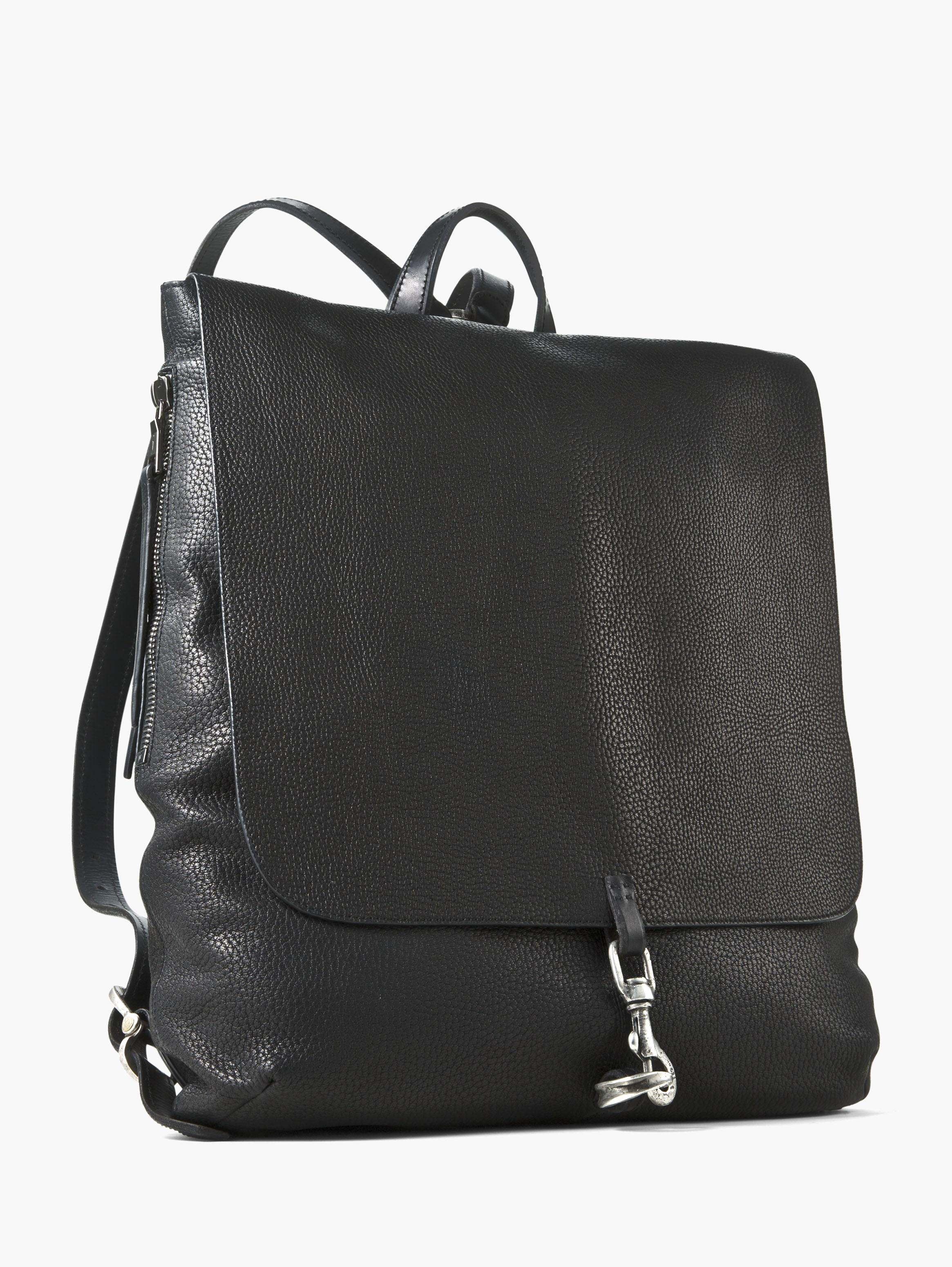Pebbled Leather Wrangler Backpack
